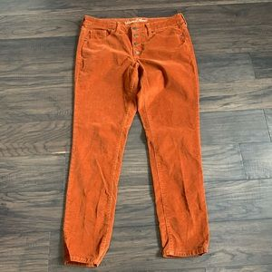 Universal Thread burnt orange corduroy pants sz 10